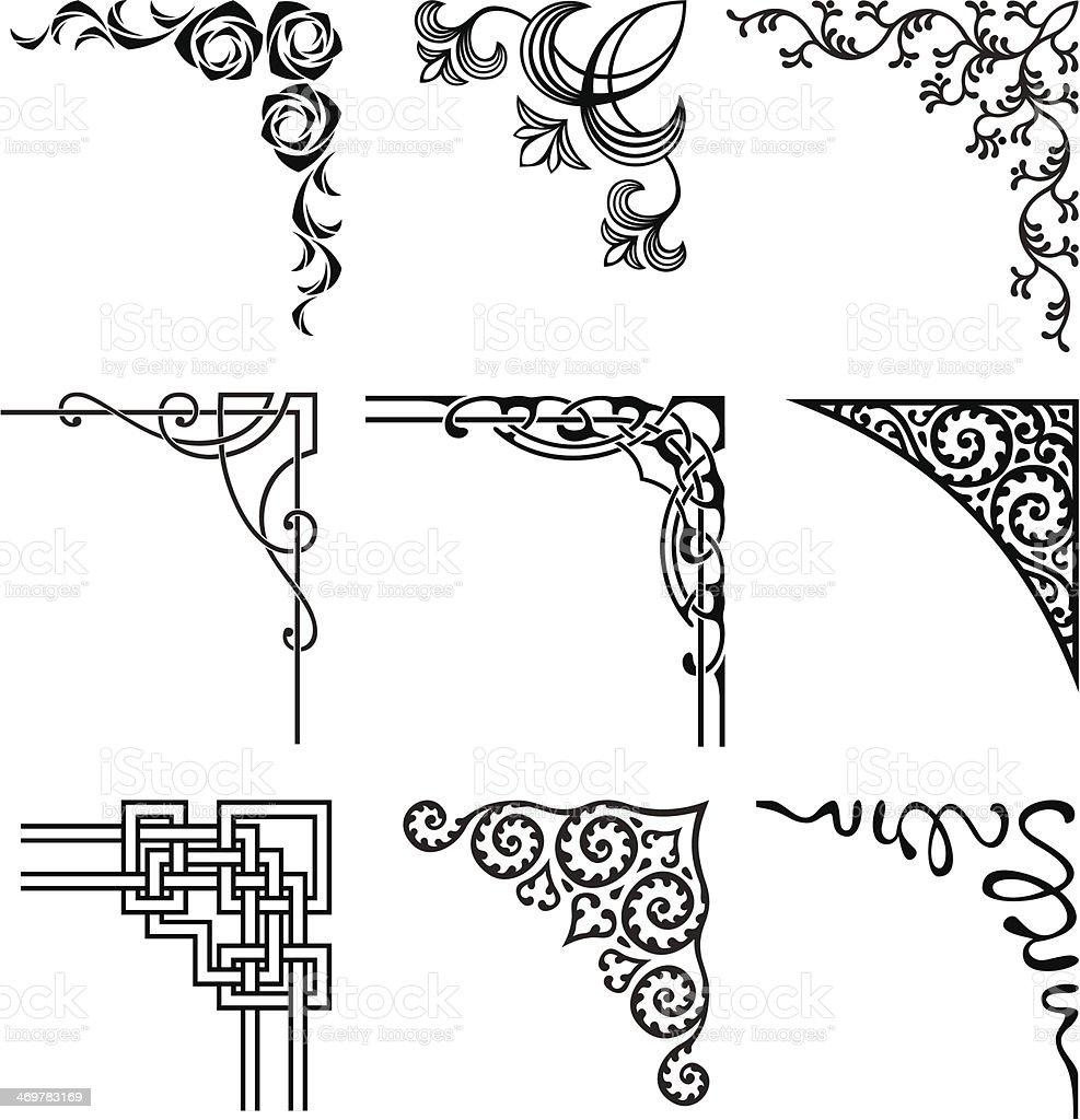 corners vector art illustration