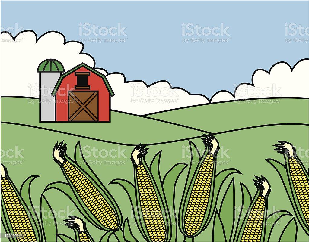 cornfield vector art illustration