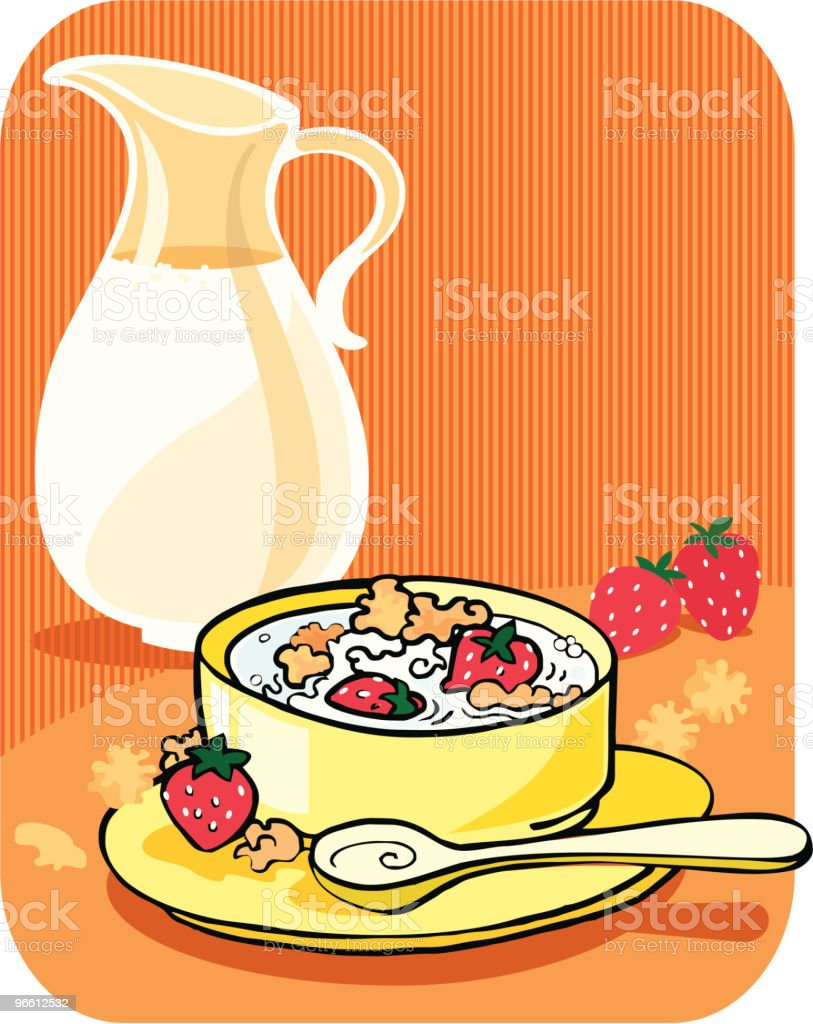 Cornflakes for breakfast royalty-free stock vector art