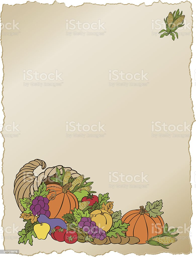 Cornucopia Frame royalty-free stock vector art