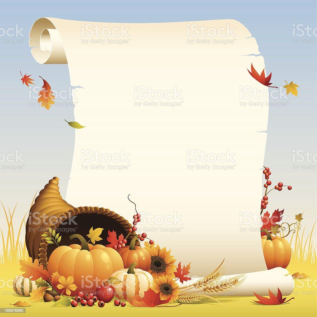 Cornucopia - scroll royalty-free stock vector art
