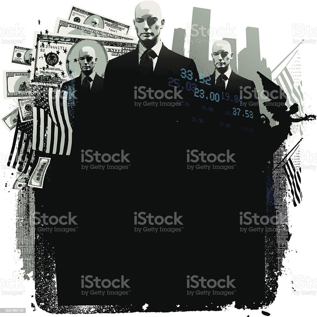 Corporate America business background vector art illustration