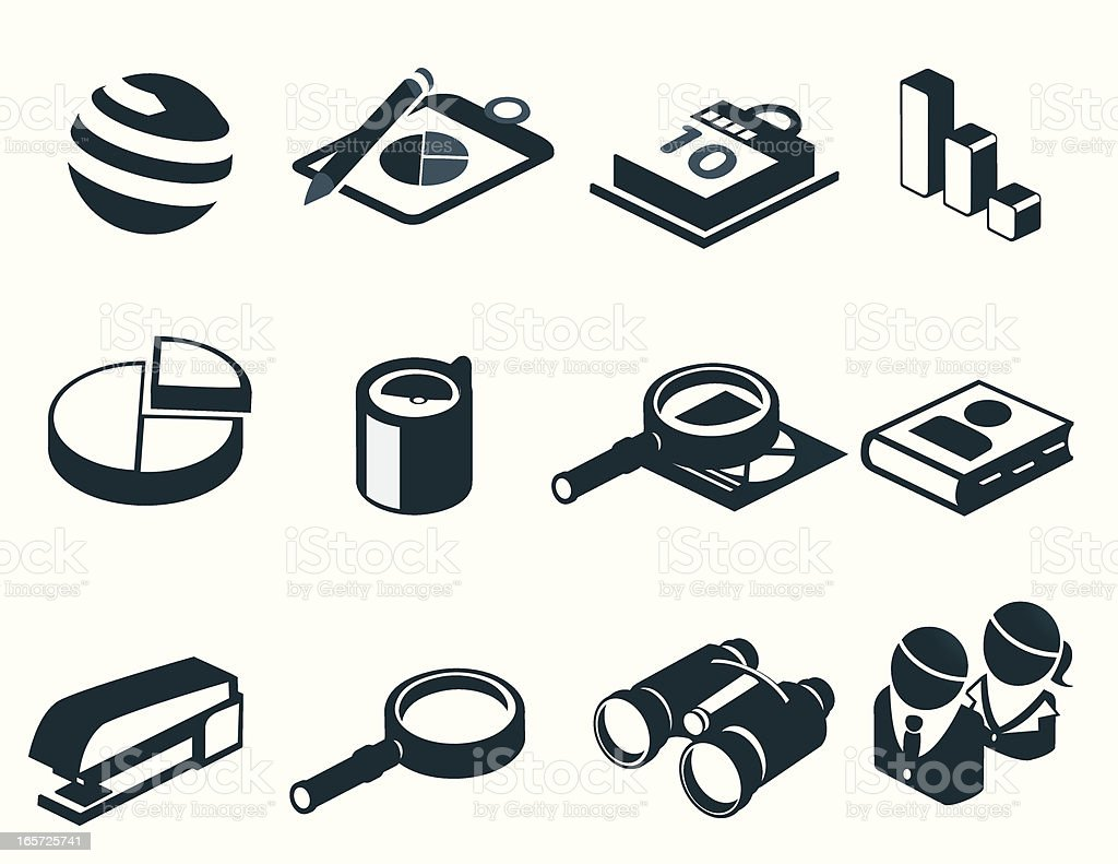 Corporate and Business Icons royalty-free stock vector art