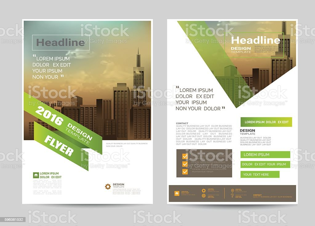 corporate brochure flyer design layout template in A4 size vector art illustration