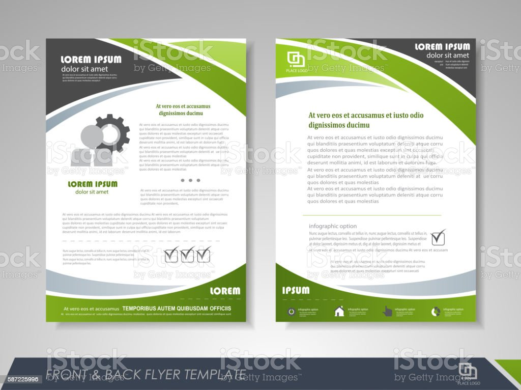 Corporate business brochure vector art illustration