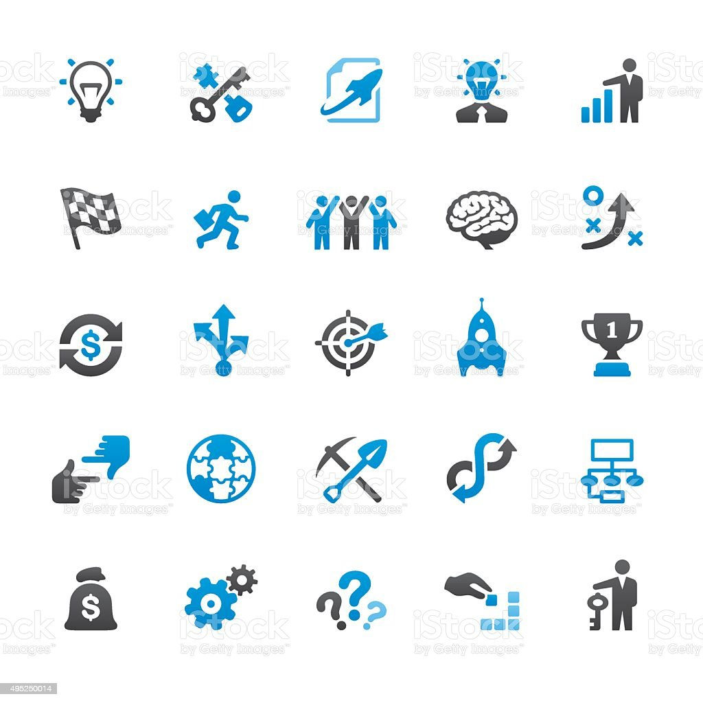 Corporate Business related vector icons vector art illustration