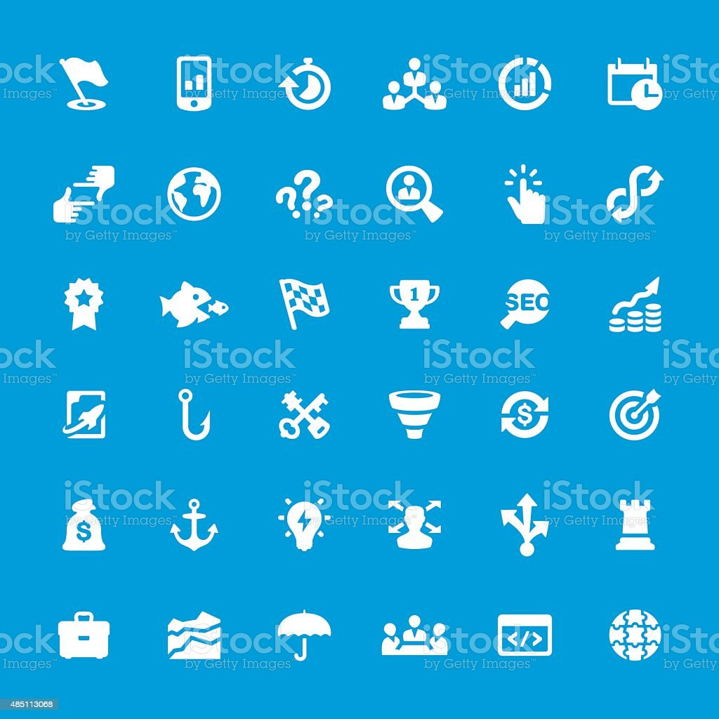 Corporate Business vector icons set vector art illustration