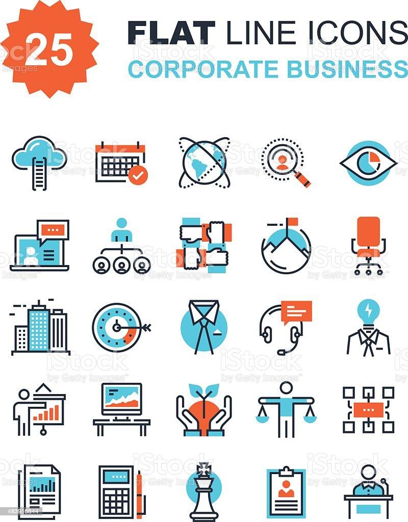 Corporate Business vector art illustration
