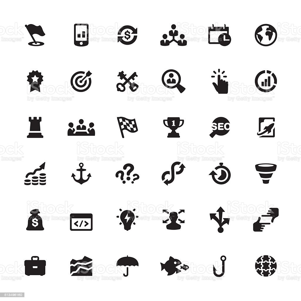 Corporate Business vector symbols and icons vector art illustration