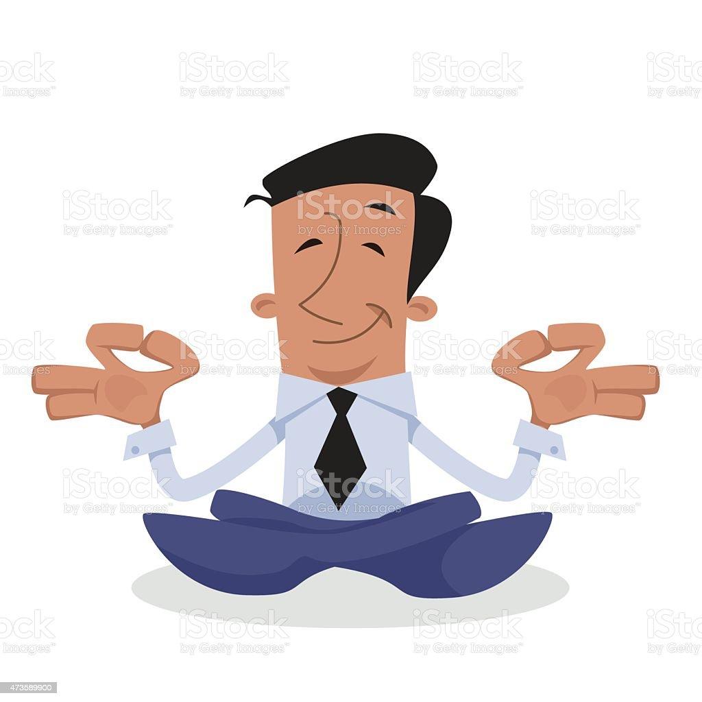 corporate character zen vector art illustration