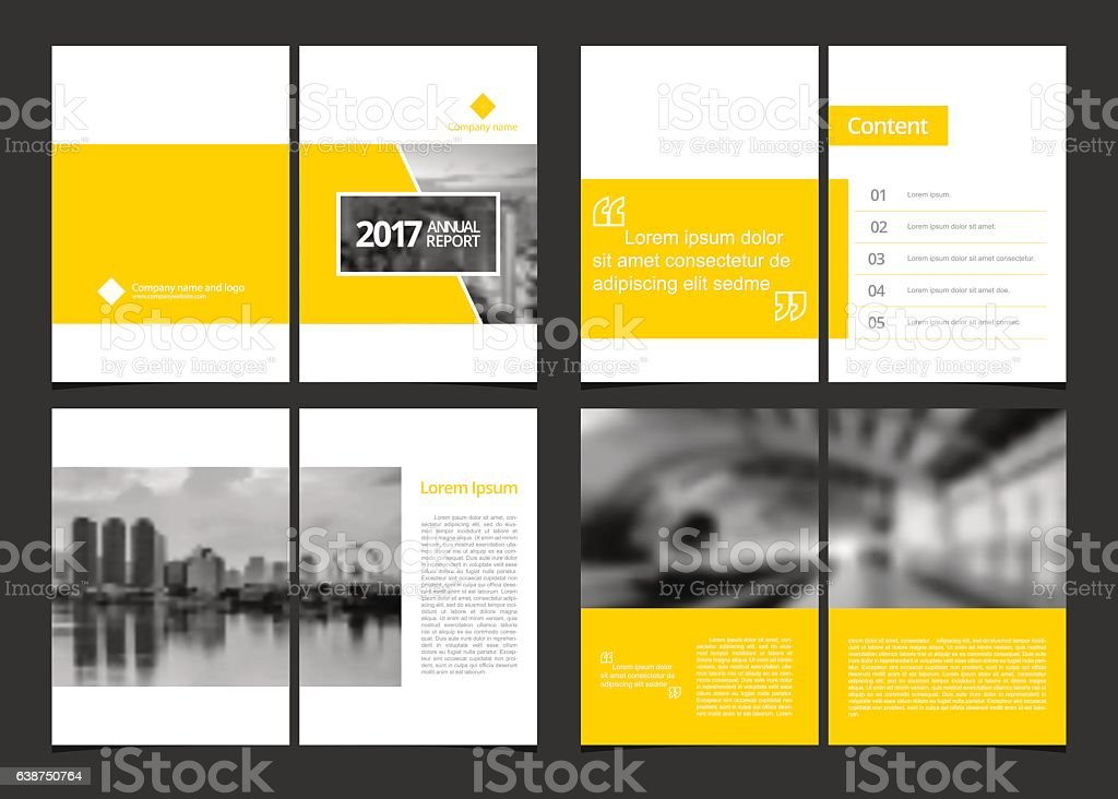 Corporate design annual report include cover design and inner page. vector art illustration