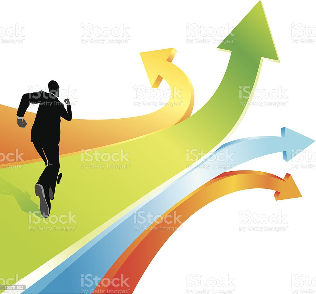 Corporate Direction vector art illustration