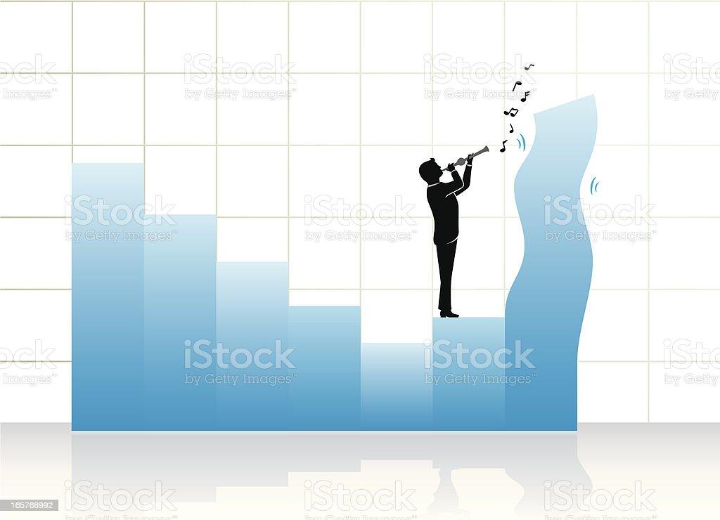 Corporate Graph Charmer vector art illustration