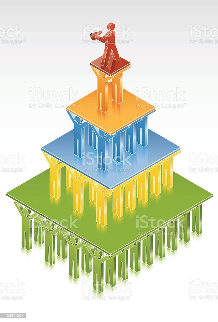 ISO-ICON: Corporate Hierarchy royalty-free stock vector art