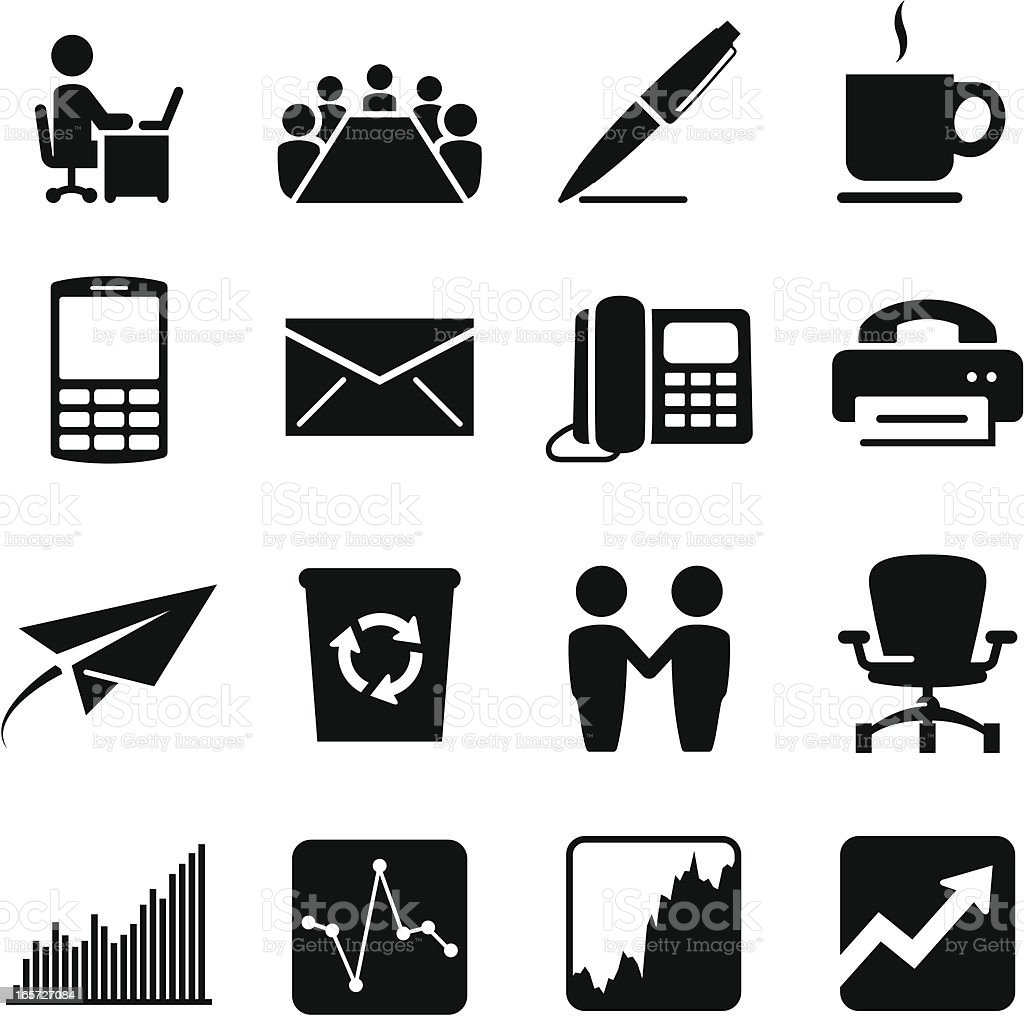 Corporate Icons - Black Series vector art illustration