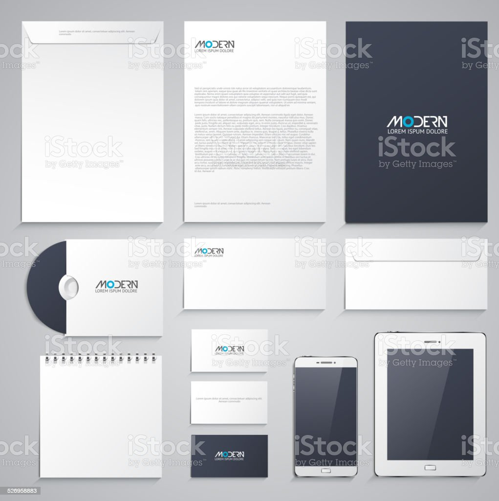 Corporate identity design vector art illustration