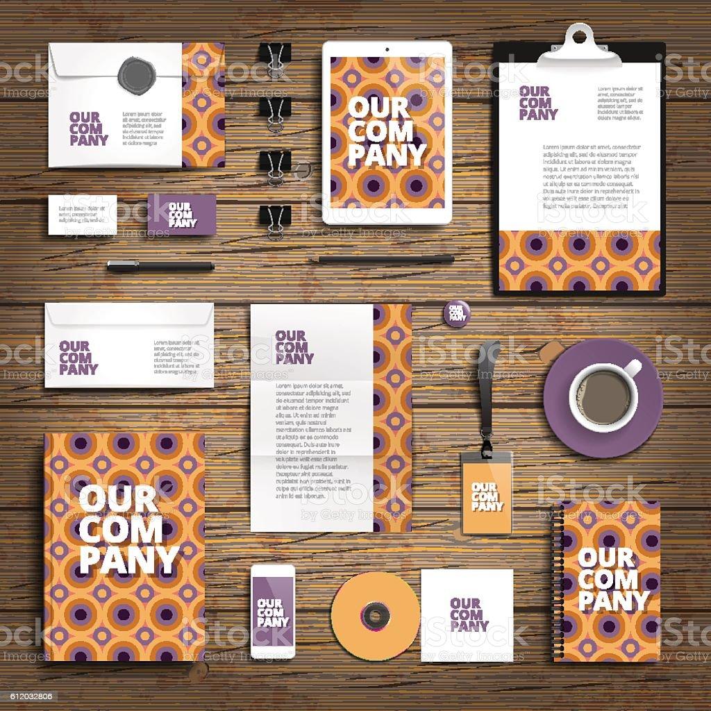 Corporate identity print template vector art illustration