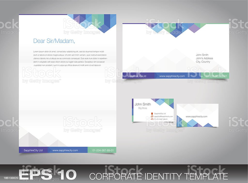 Corporate identity set for your business vector art illustration