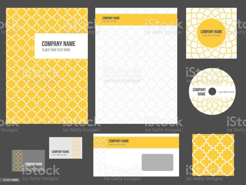 Corporate identity - stationery for company vector art illustration