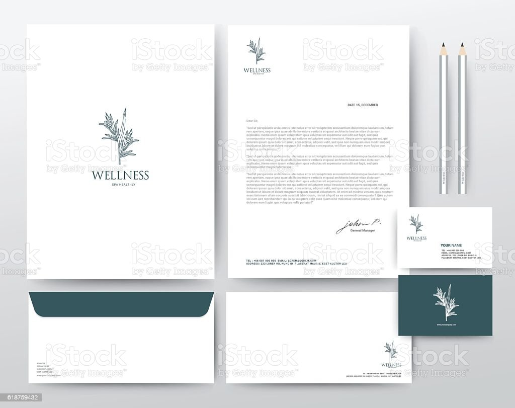 Corporate Identity Template, Modern Vector illustration vector art illustration