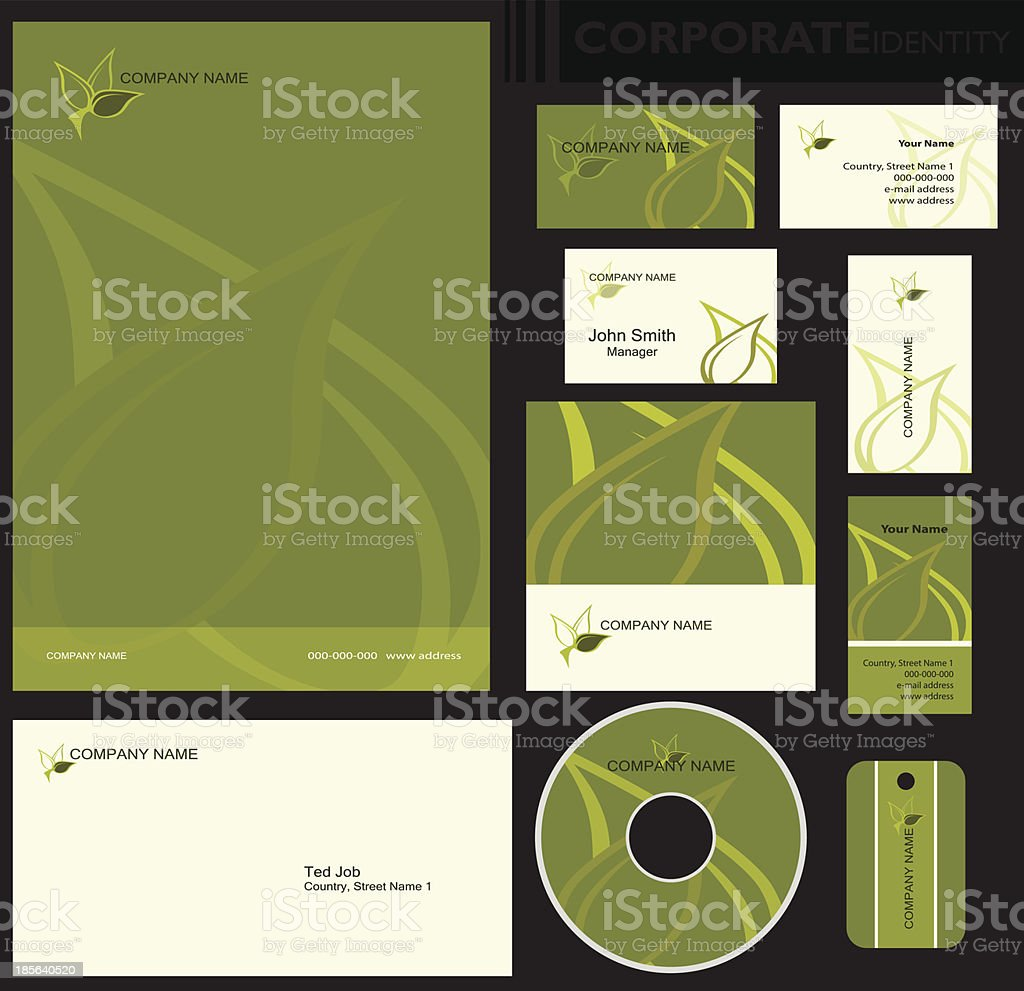 Corporate identity template. royalty-free stock vector art