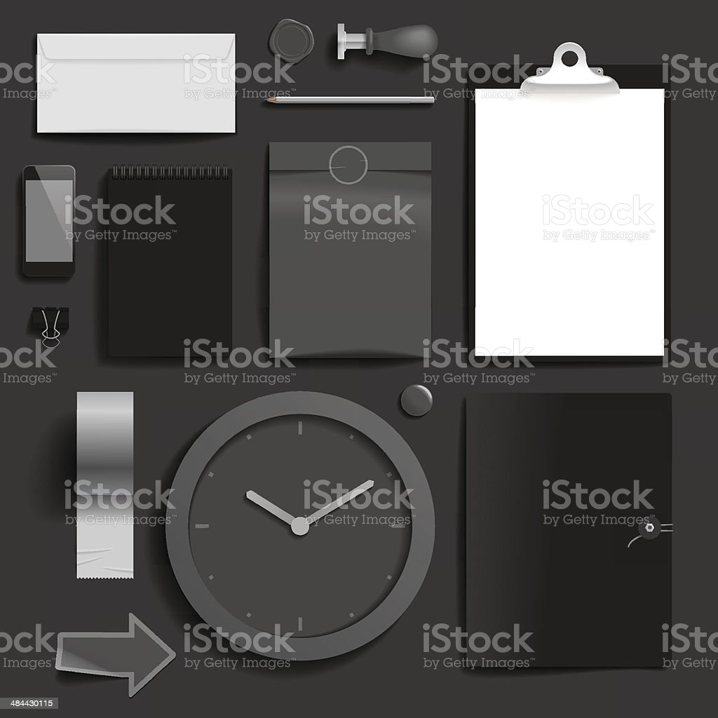 Corporate identity template royalty-free stock vector art
