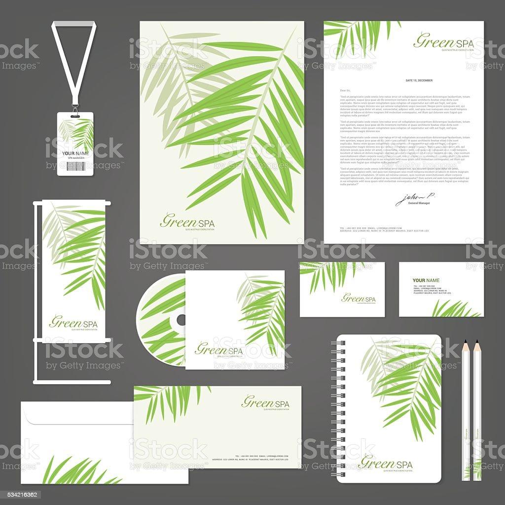 Corporate identity Templates, Spa Yoga Orchid Flower, Vector Illustration vector art illustration
