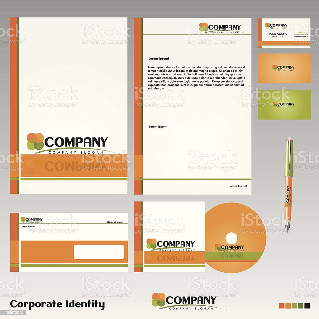 Corporate Identity vector art illustration