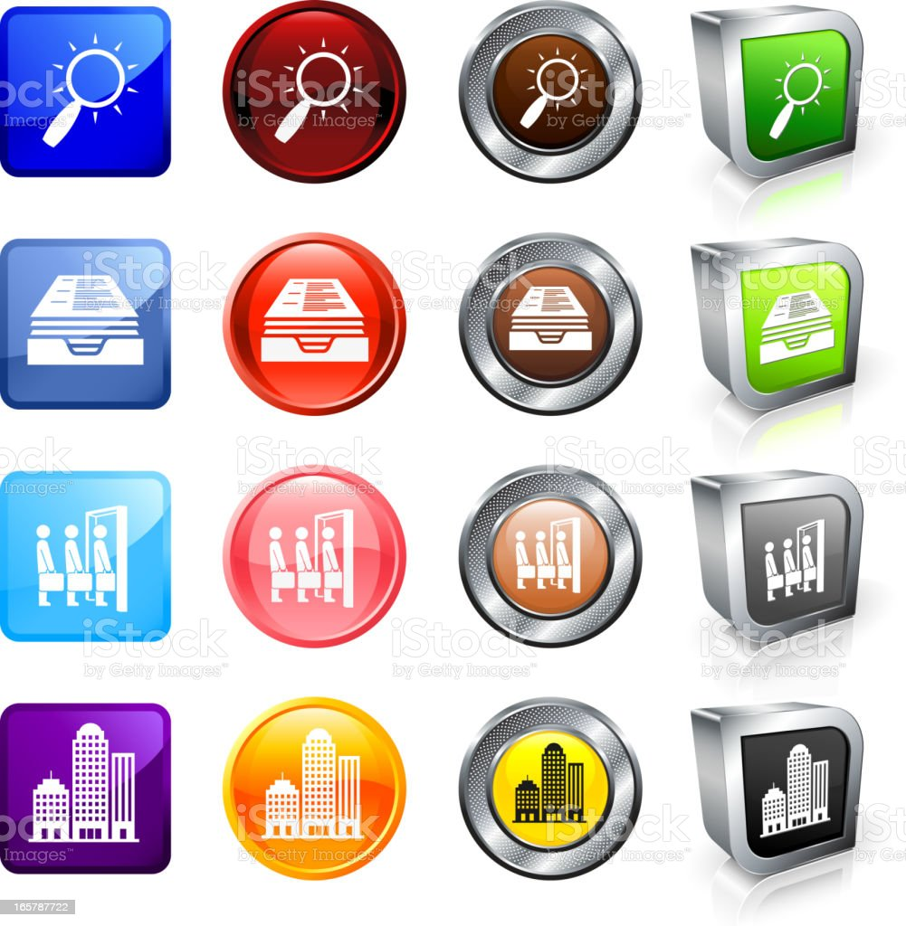 Corporate Job Search and Interview royalty free vector button set royalty-free stock vector art