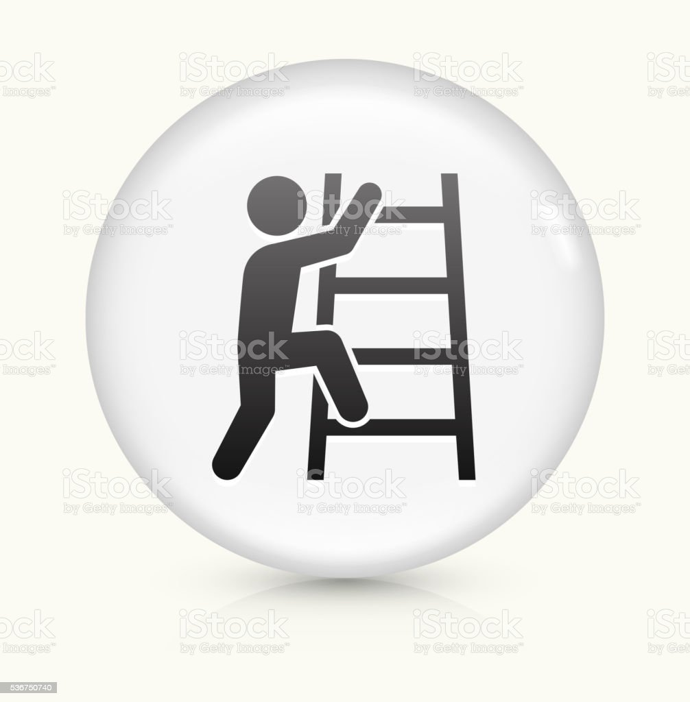 Corporate Ladder icon on white round vector button vector art illustration
