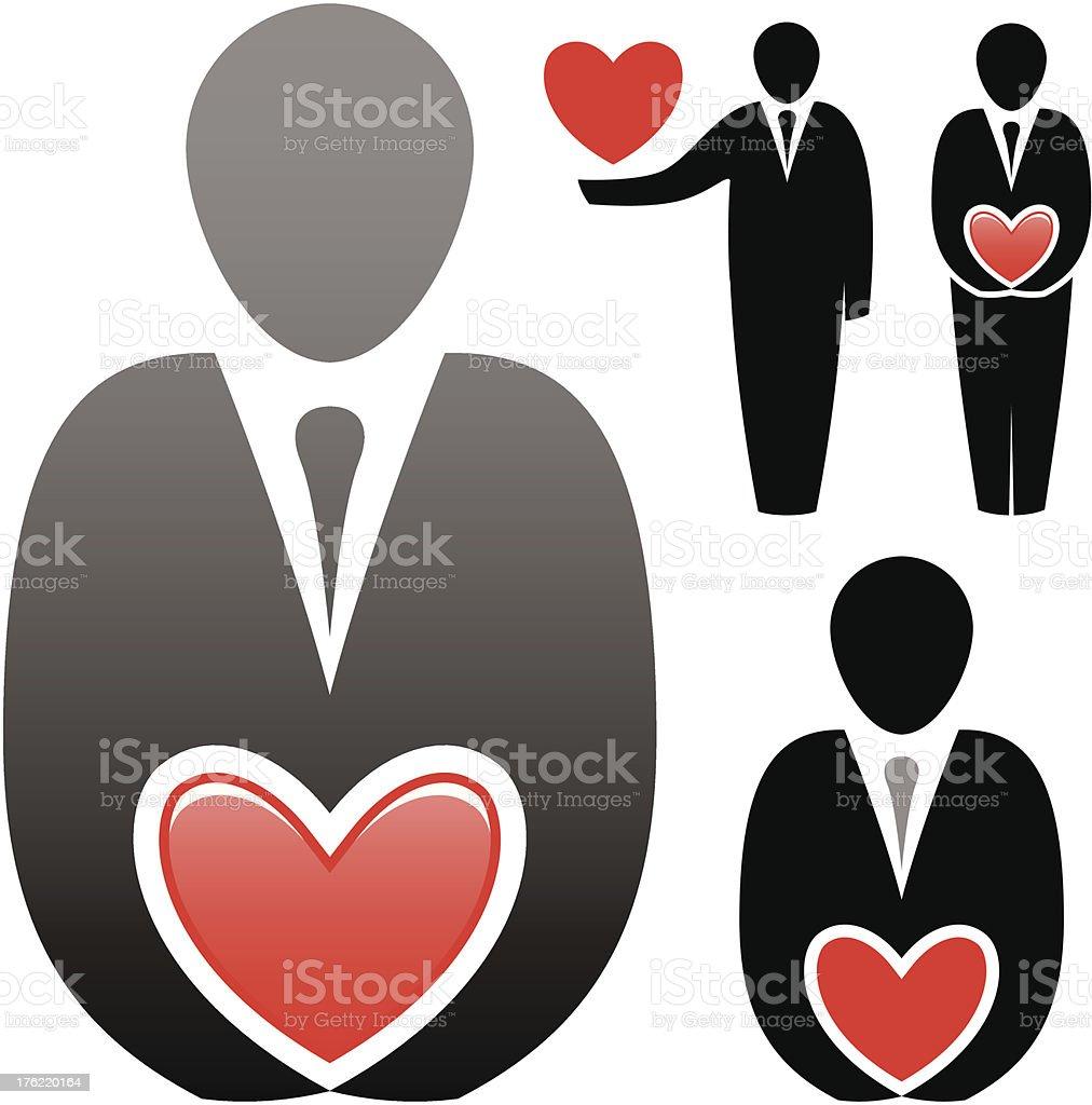 Corporate love royalty-free stock vector art