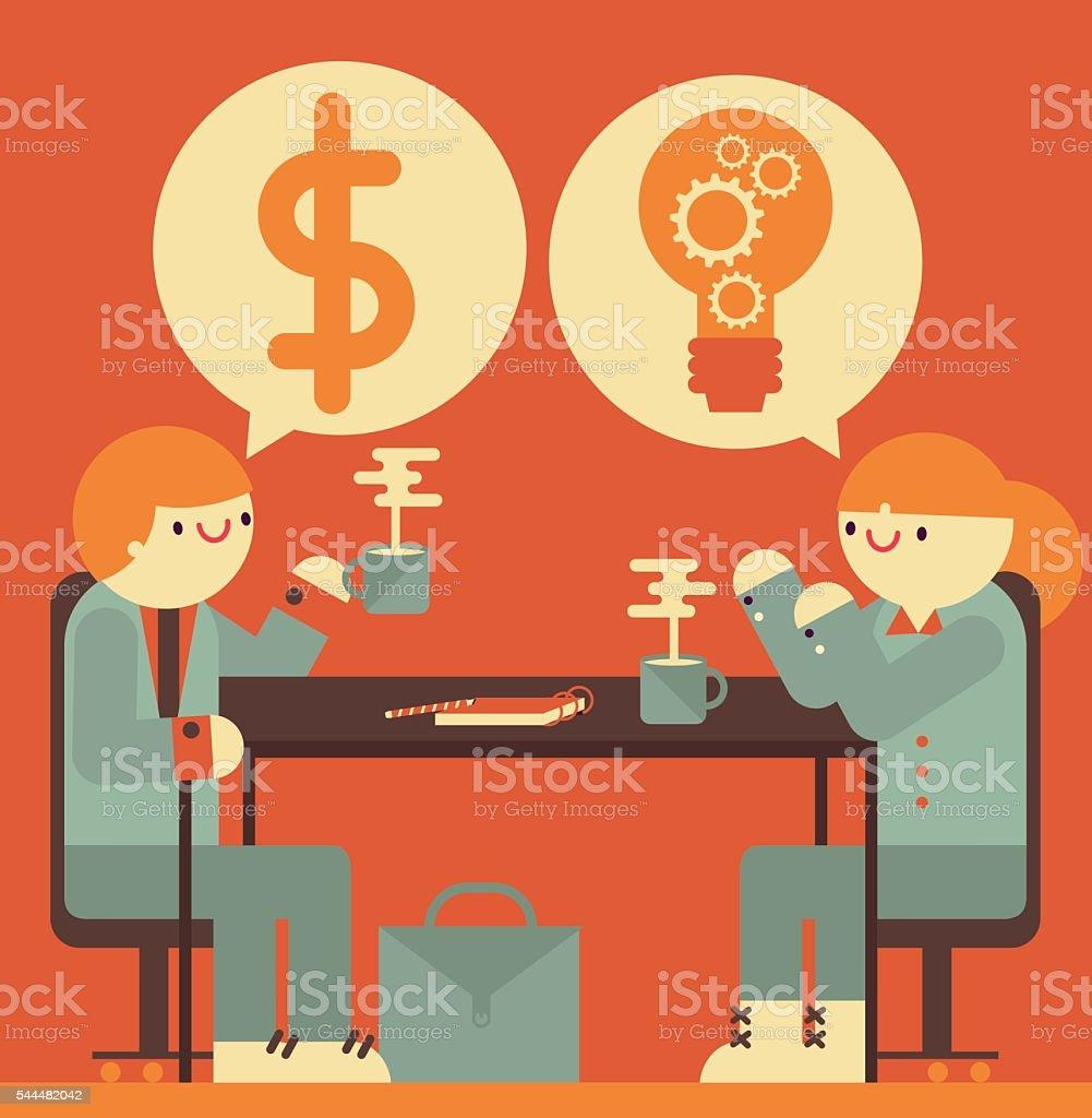 Corporate Meeting vector art illustration