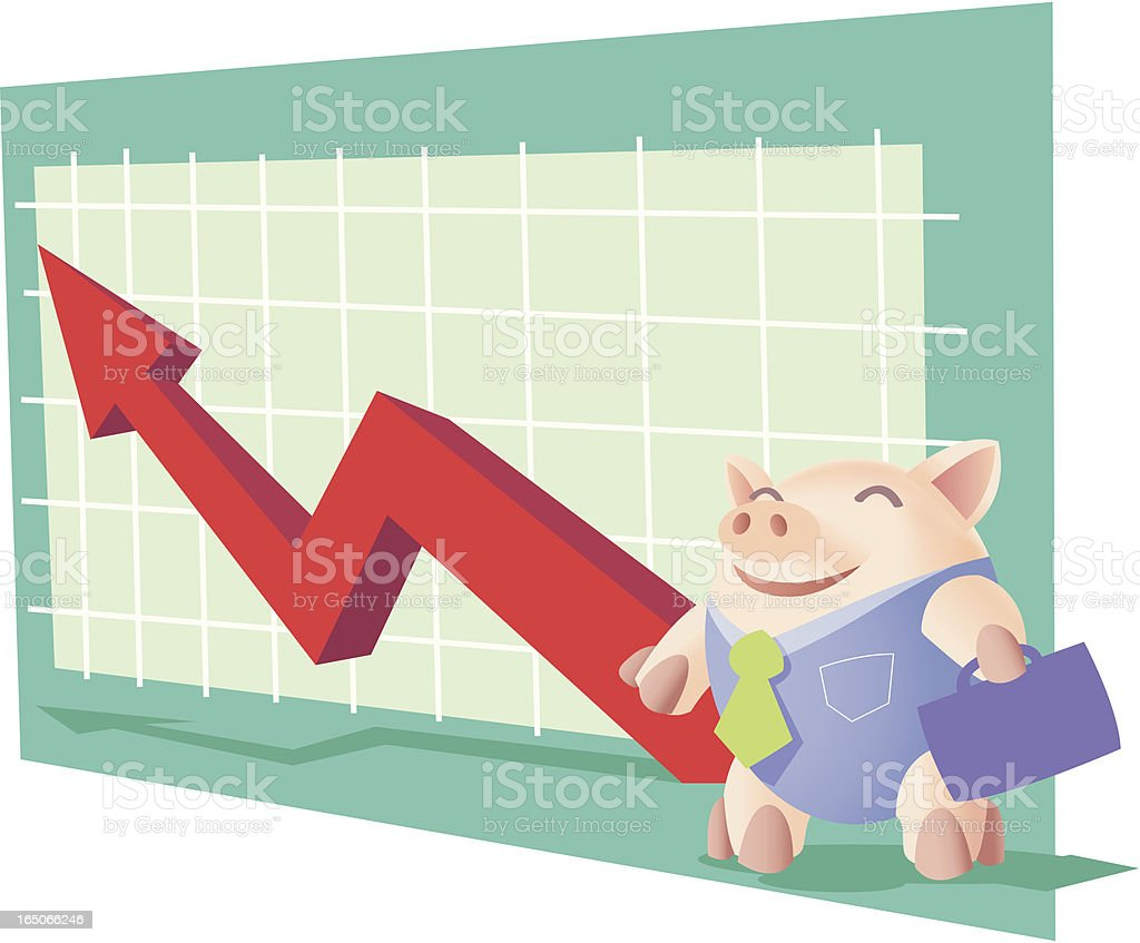 corporate pig royalty-free stock vector art