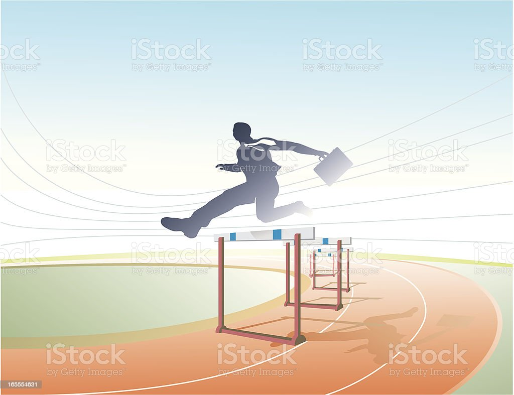Corporate Race royalty-free stock vector art