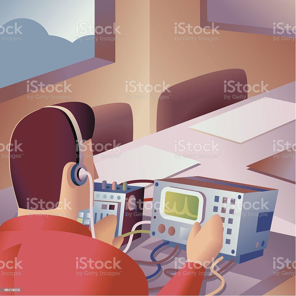 Corporate Snooping vector art illustration