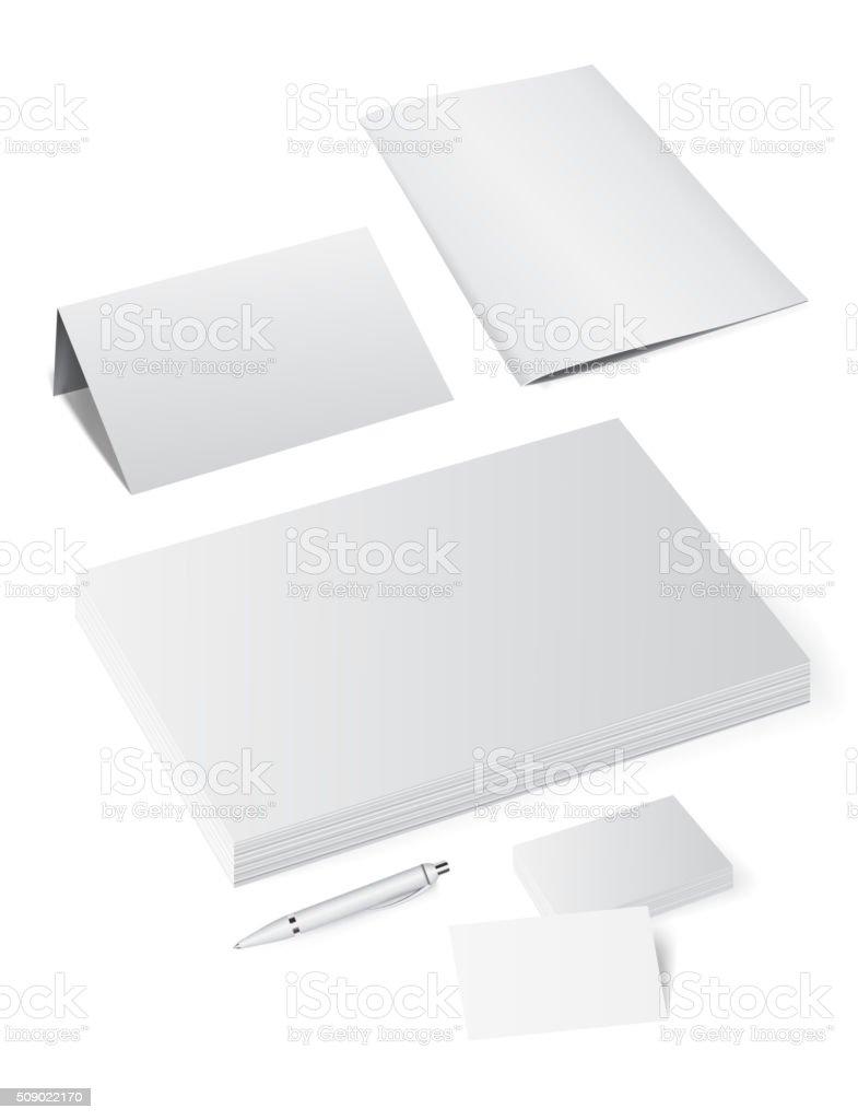 Corporate template mock up vector art illustration