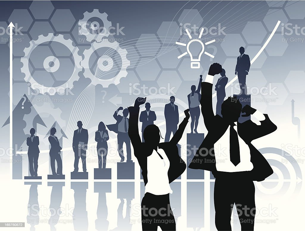 Corporate Victory royalty-free stock vector art