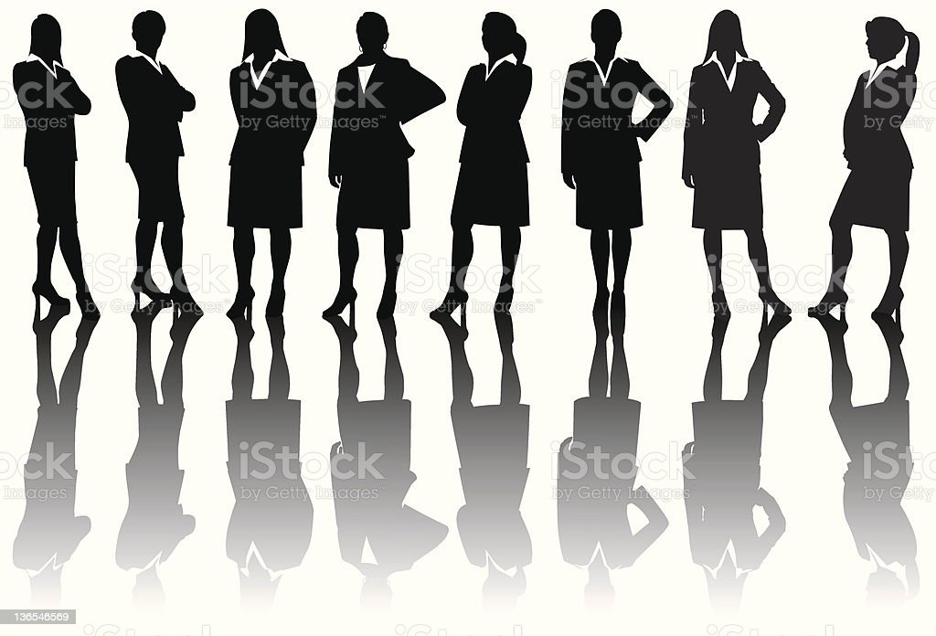 corporate women silhouettes royalty-free stock vector art