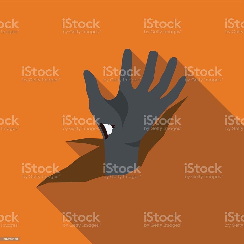 Corpse hand flat icon illustration vector art illustration