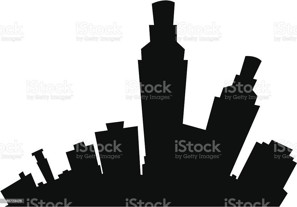 Corpus Christi Cartoon City vector art illustration