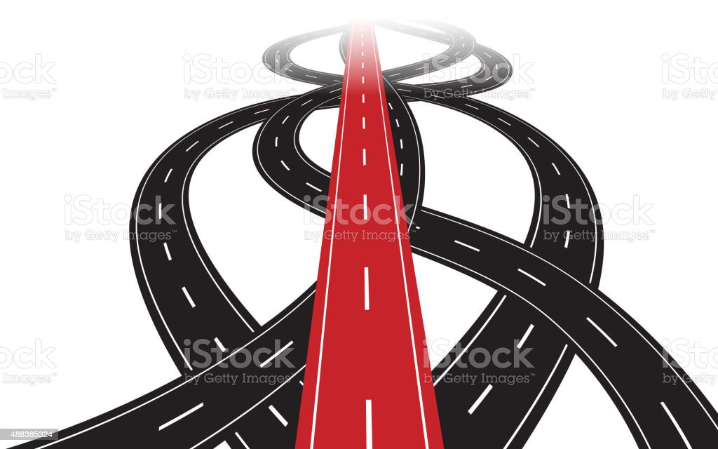 Correct path vector art illustration