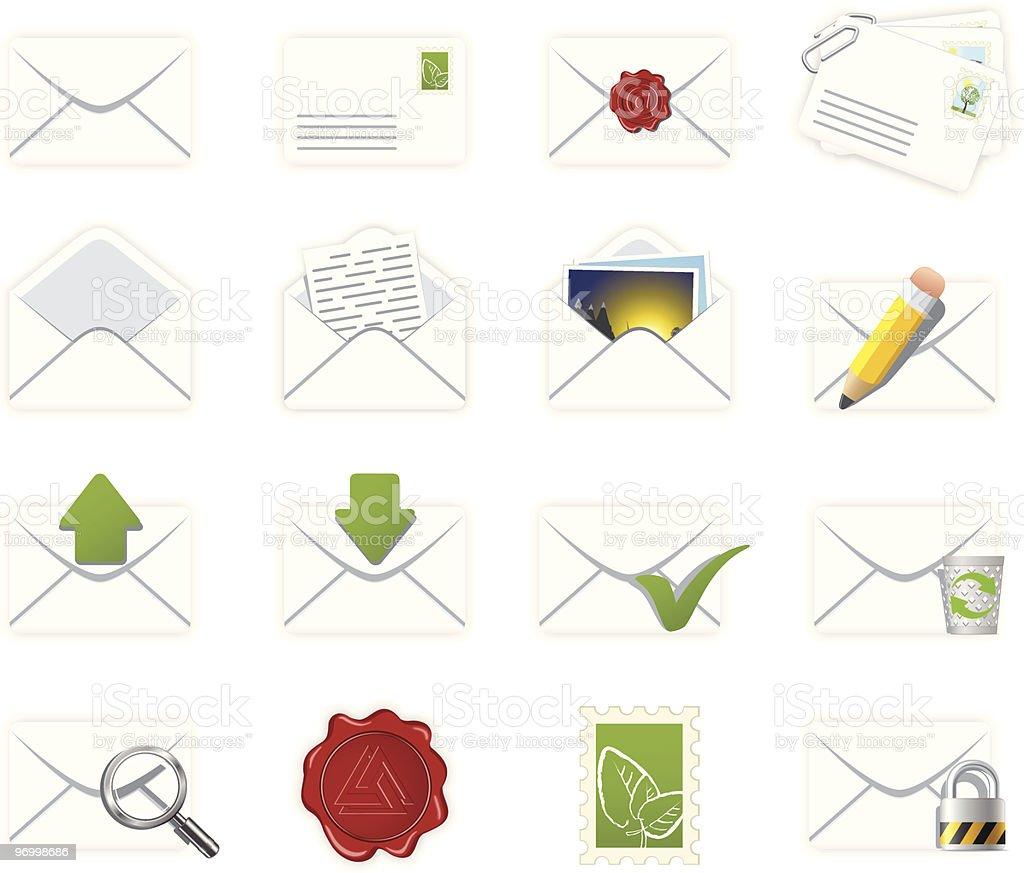 Correspondence icons royalty-free stock vector art