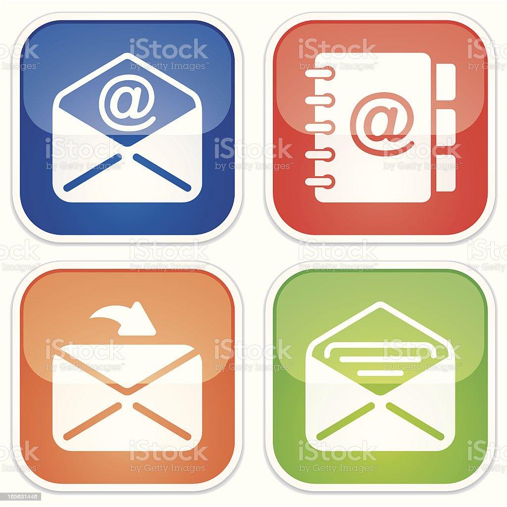 correspondence miniset - Quadro Glossy royalty-free stock vector art