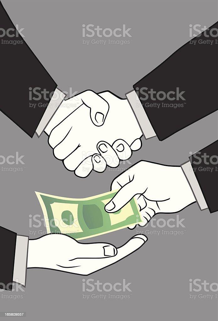 Corruption royalty-free stock vector art