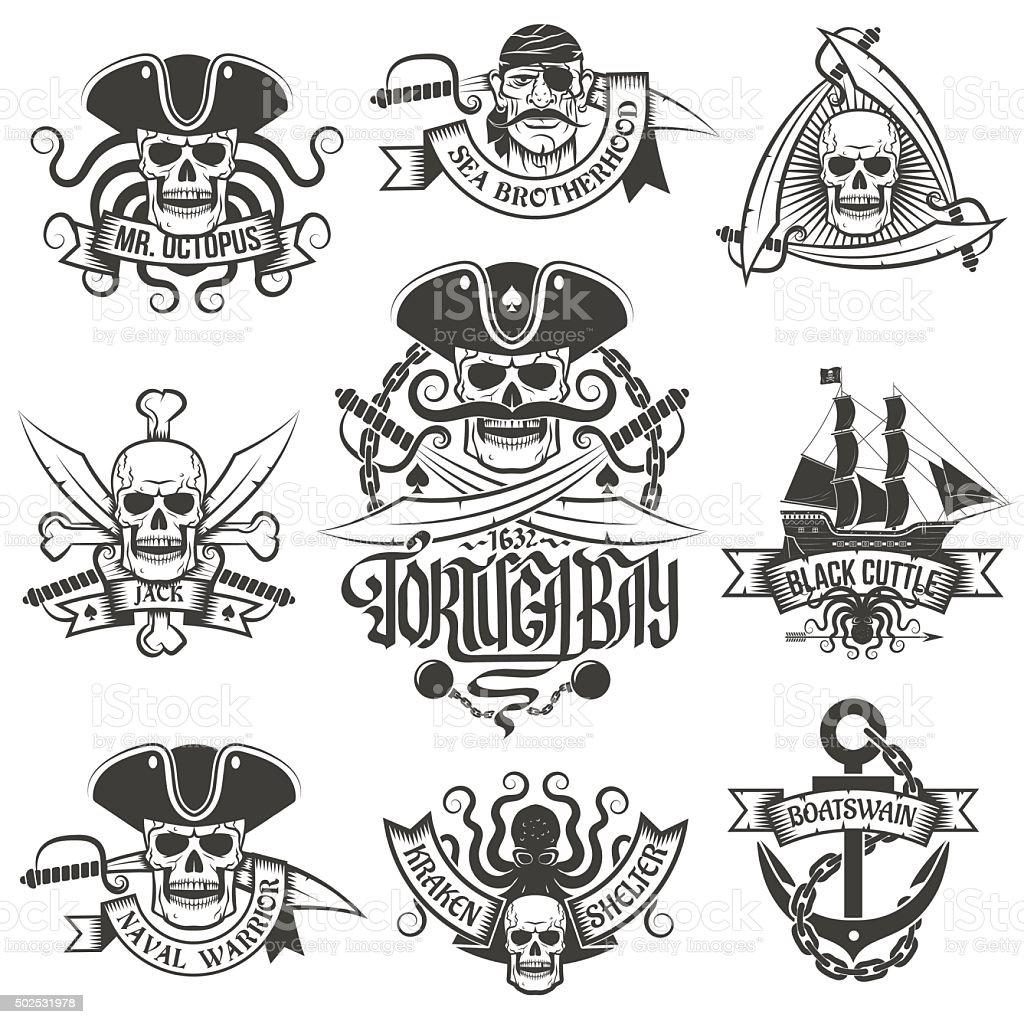 Corsair logo vector art illustration