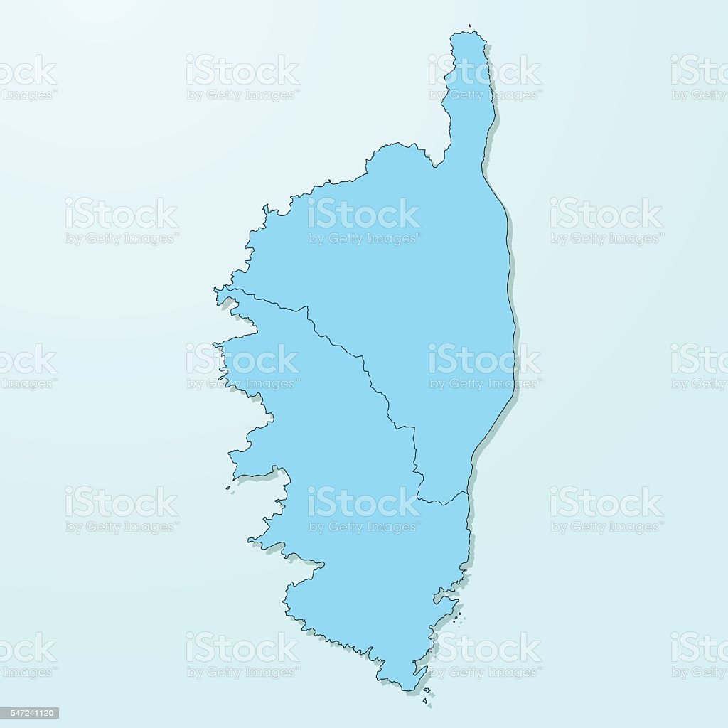 Corse blue map on degraded background vector vector art illustration