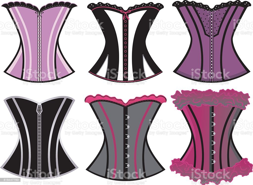 Corsets/Corsages vector art illustration