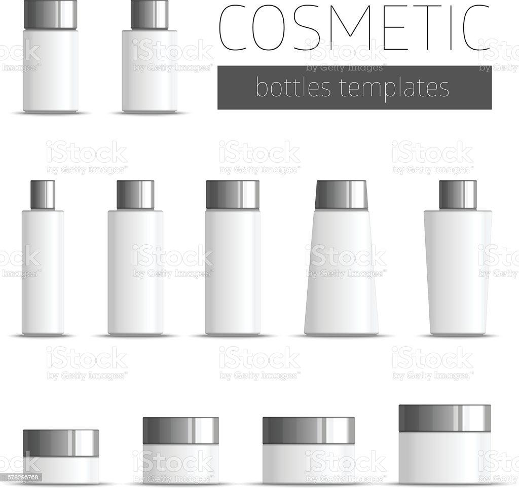 Cosmetic bottles templates. vector art illustration