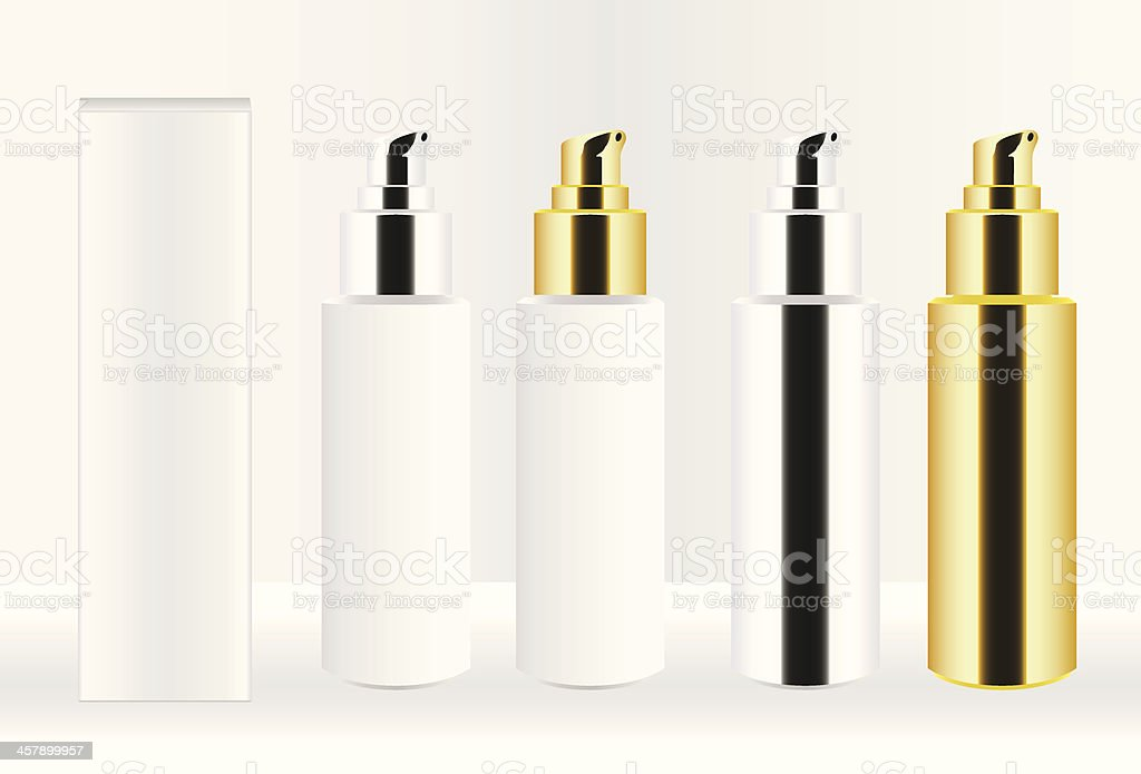 Cosmetic Container Set vector art illustration