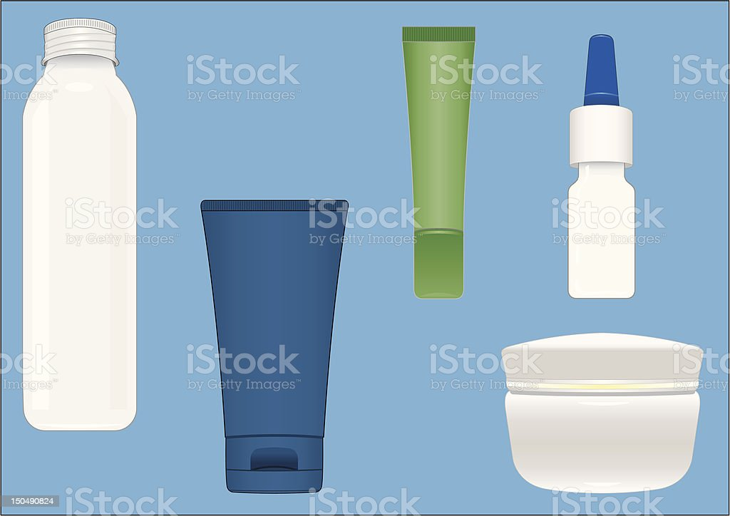 Cosmetic Containers. royalty-free stock vector art